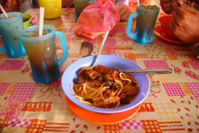 Cockles, fish cake and noodle soup - Tapah, Malaysia